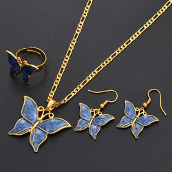 blue opal butterfly necklace