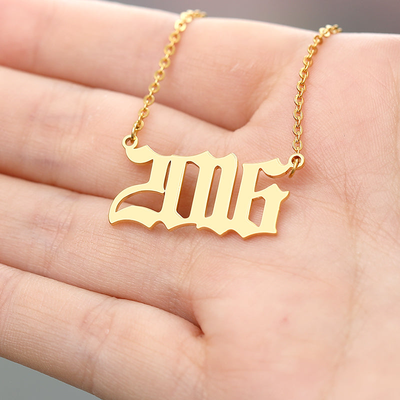 Custom Birth Year Necklaces