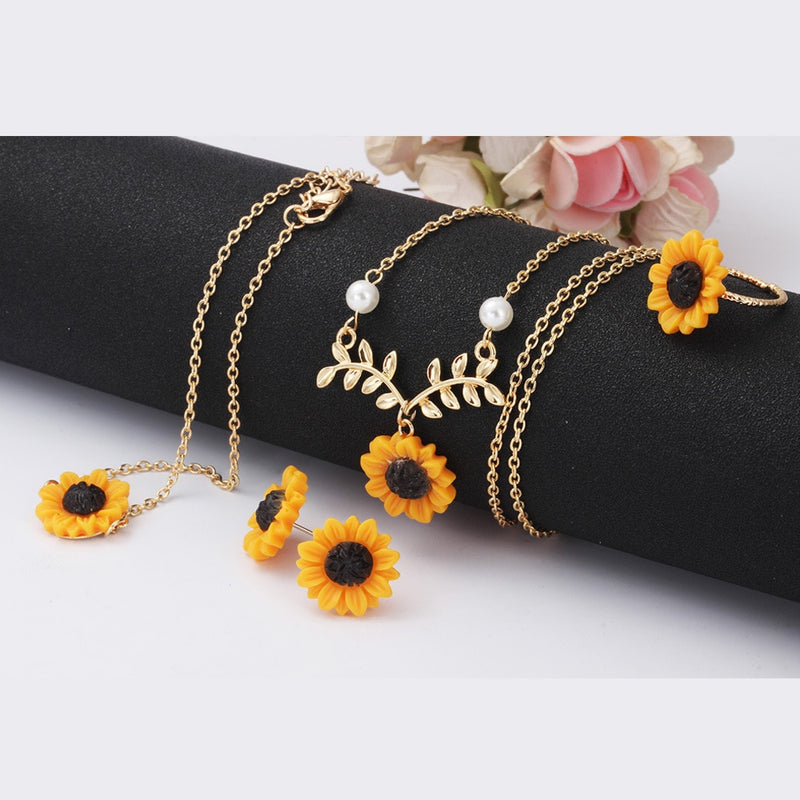 Sunflower Leaf Necklace
