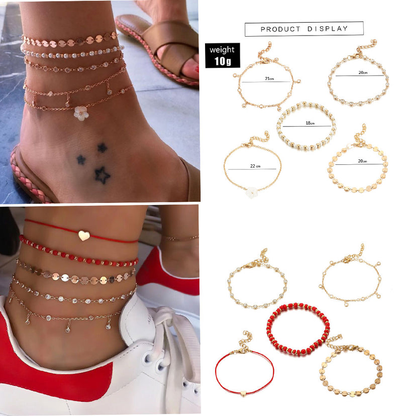 Red Love Anklets