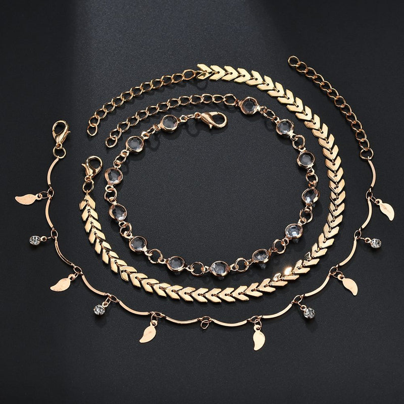 Dainty gold anklet
