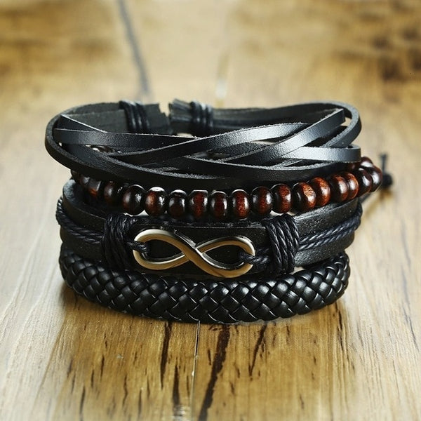 Large Mens leather cuff bracelets for sale