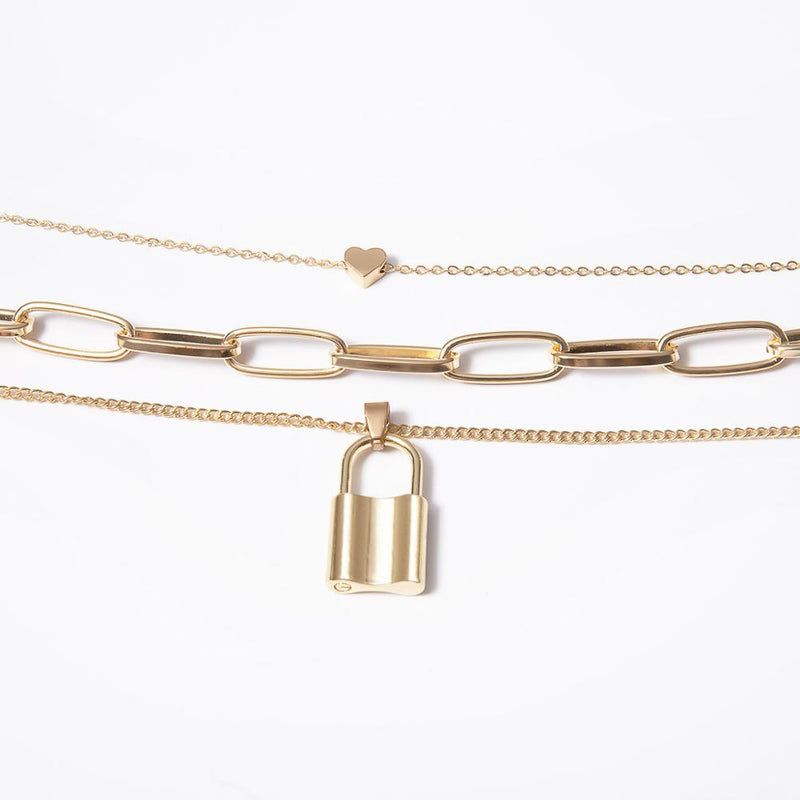 Lock Heart Necklace