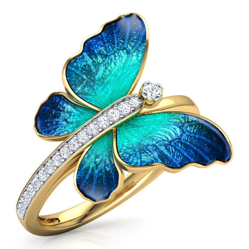 Butterfly Crystal Ring