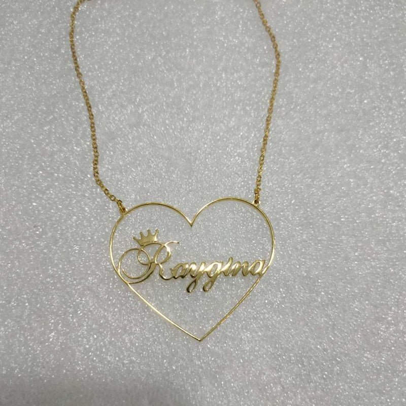Custom Heart Name Necklace