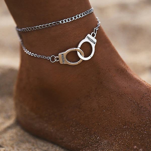 Silver Cuff Anklet