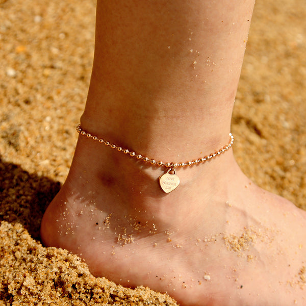 Heart-Shaped Anklets
