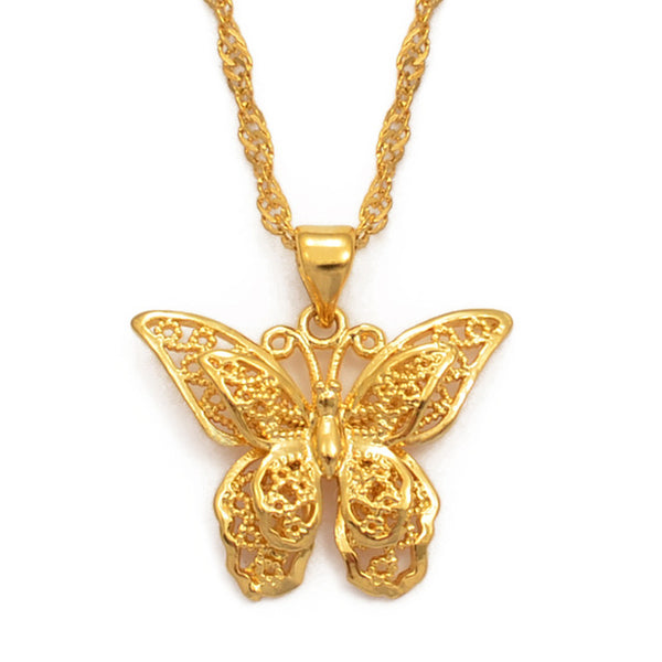 Opal Butterfly Necklace for Sale