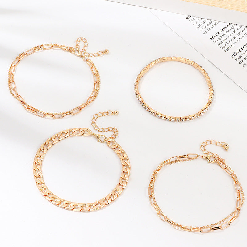 18K Gold Filled Anklet Set