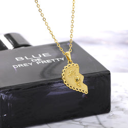 Gold Love Couple Necklace