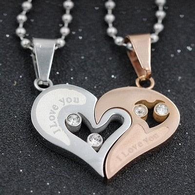 """I Love You"" Couple Necklace"