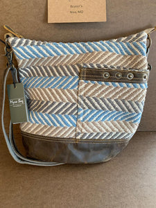 Woven Blue Chip shoulder bag