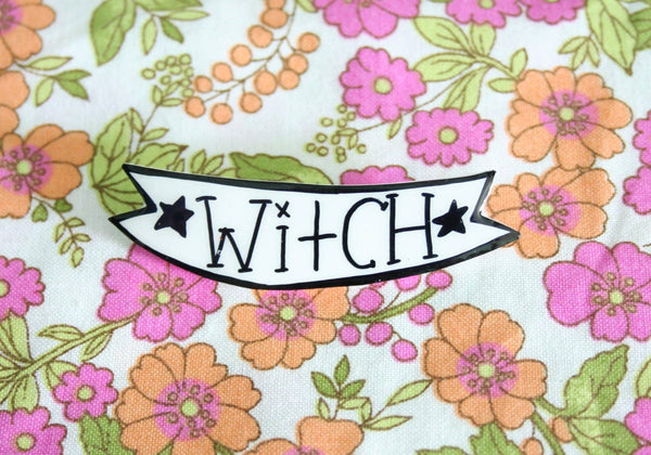 Witch Banner Handmade Brooch