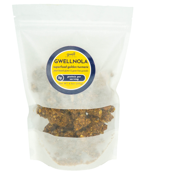 Gwellnola Golden Coconut and Turmeric Granola 175g bags