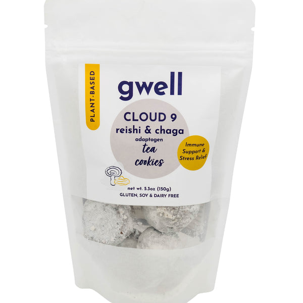 Cloud 9 Reishi and Chaga - Adaptogen Functional Tea Cookies - Gwell