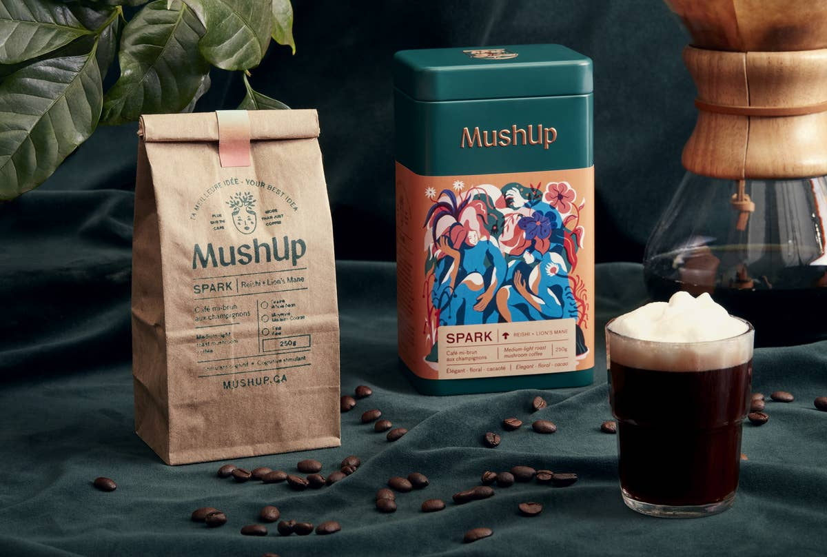 MushUp - Cognitive Coffee - Spark - Reishi and Lions Mane Infused Coffee