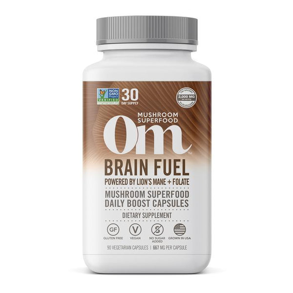 OM - BRAIN FUEL LIONS MANE + VITAMIN B9 - 90 CT.