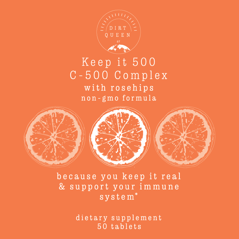 Keep it 500 - C-500 Complex with Rosehips - Vitamin C - 50 tablets - Dirt Queen SF