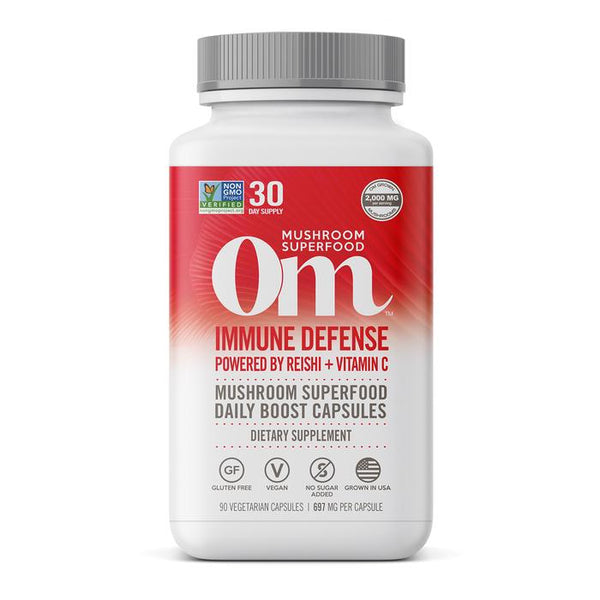 OM - IMMUNE DEFENSE REISHI + VITAMIN C - 90 CT.