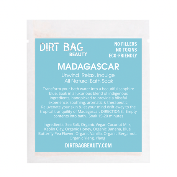 Dirt Bag Beauty - Madagascar Bath Soak - Single Use - Dirt Queen SF