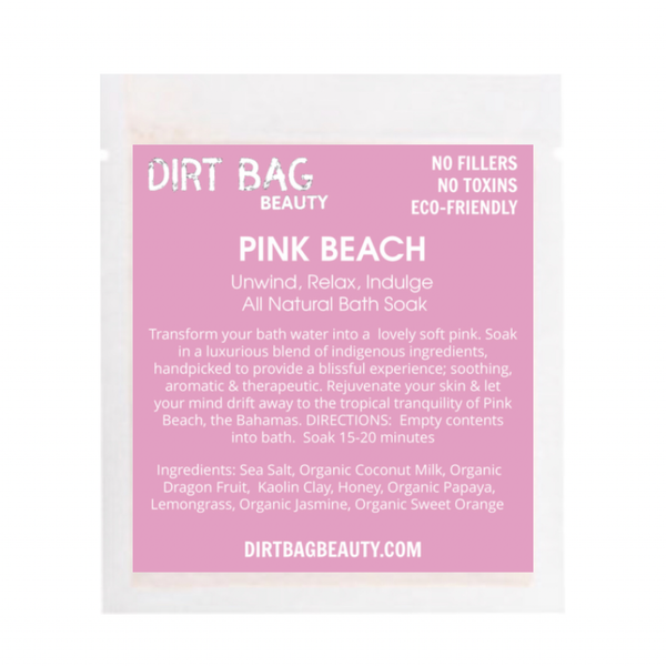 Pink Beach Bath Soak - Single use