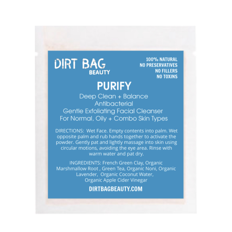 NEW! Purify Exfoliating Vegan Facial Cleanser Single use