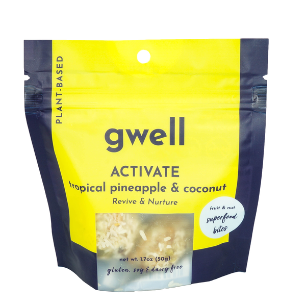 Activate - Pineapple and Coconut Raw Gwell Bites