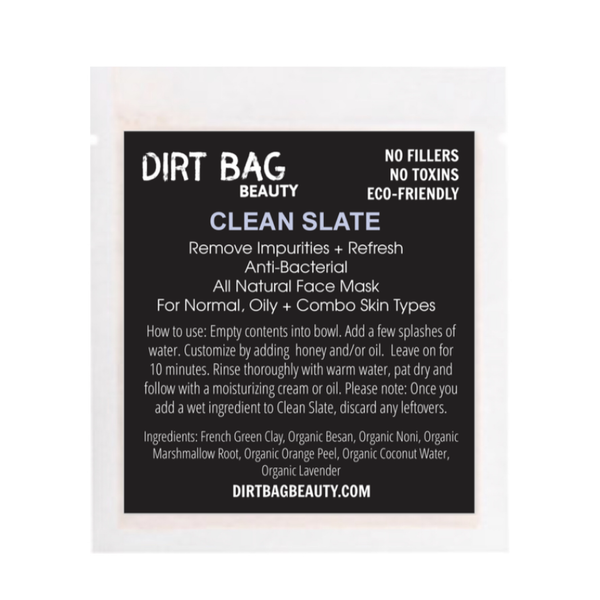 NEW! Clean Slate Vegan Facial Mask Single Use