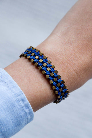 TRIAD BRACELET IN INDIGO BLUE