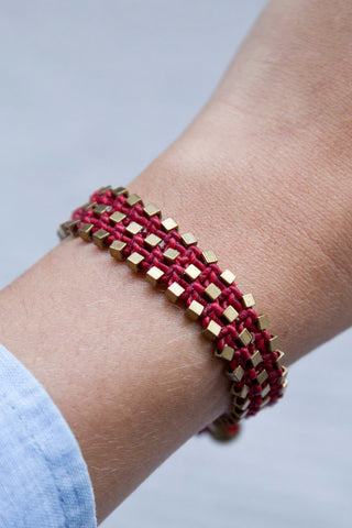 TRIAD BRACELET IN CRIMSON RED