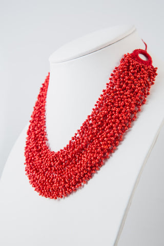 BLOOD ORANGE FLOATING DROPLETS NECKLACE