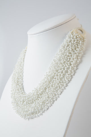 PURE WHITE FLOATING DROPLETS NECKLACE