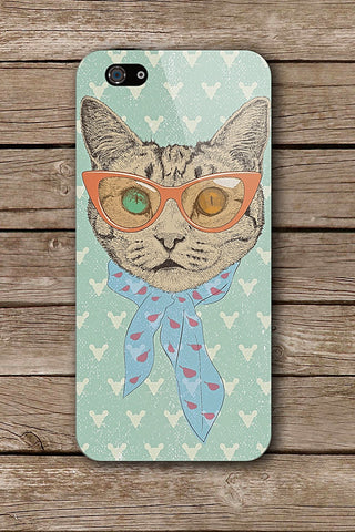 HIPSTER CAT iPHONE ART BY GUANDO