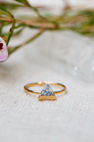 Triangle Ring with Howlite