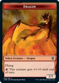 Dragon // Treasure Double-sided Token [Commander Legends] | OMG Games ON