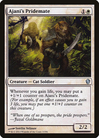Ajani's Pridemate [Commander 2013] | OMG Games ON