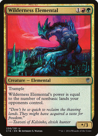 Wilderness Elemental [Commander 2016] | OMG Games ON