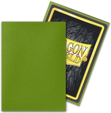 Dragon Shield Matte Sleeve -Olive 100ct | OMG Games ON