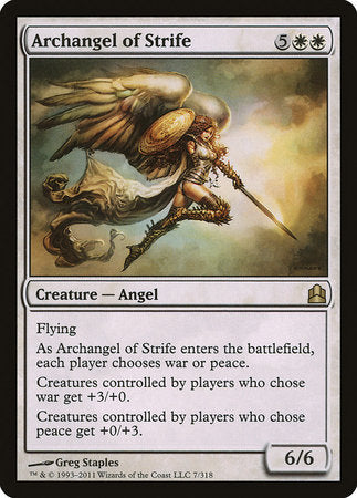 Archangel of Strife [Commander 2011] | OMG Games ON