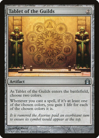 Tablet of the Guilds [Return to Ravnica]