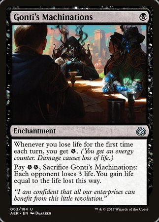 Gonti's Machinations [Aether Revolt]