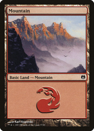 Mountain (37) [Duel Decks: Heroes vs. Monsters]