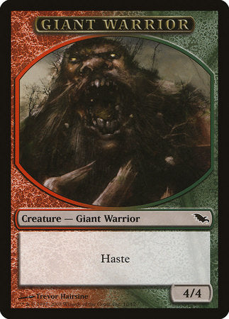 Giant Warrior Token (Red/Green) [Shadowmoor Tokens]