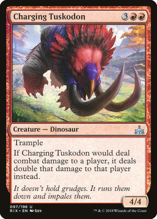 Charging Tuskodon [Rivals of Ixalan] | OMG Games ON