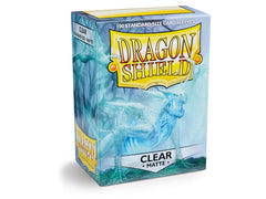 Dragon Shield Matte Sleeve - Clear 'Angrozh' 100ct | OMG Games ON