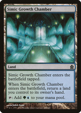 Simic Growth Chamber [Commander 2011] | OMG Games ON