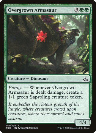 Overgrown Armasaur [Rivals of Ixalan] | OMG Games ON