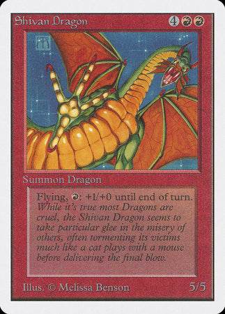 Shivan Dragon [Unlimited Edition]