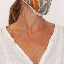 Load image into Gallery viewer, Aegean Gold Chain Face Mask Lanyard Necklace