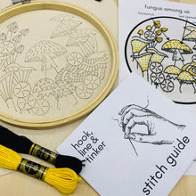 Load image into Gallery viewer, Fungus Among Us Embroidery Kit
